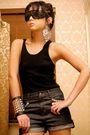 Black-random-purse-blue-glitterati-shorts-black-topshop-boots-silver-forev