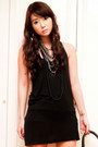 Gold-glimmer-accessories-black-das-boots-black-tank-topshop-dress