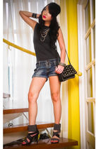 black studded from Rockwell bazaar purse - black Glitterati shoes