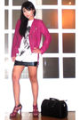 Pink-tinsels-jacket-white-topshop-top-black-glitterati-skirt-pink-the-libr