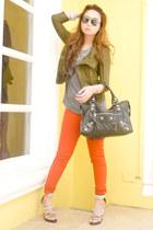 burnt orange Zara jeans