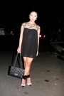 Black-chicnova-dress-black-chanel-bag-white-das-pumps