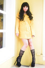Yellow-chicnova-coat-black-glitterati-bra-yellow-glitterati-skirt