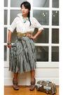 Blue-culte-femme-skirt-white-glitterati-blouse-beige-vintage-belt-blue-vid