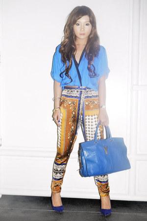 blue cabas chyc YSL bag