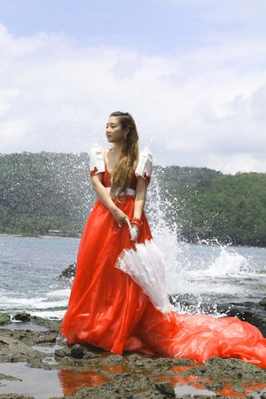 red Glitterati dress