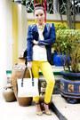Chartreuse-zara-jeans-blue-jhajing-jacket-ivory-shiq-bags-bag