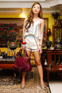 Silver-h-m-top-off-white-wearelse-shorts-silver-gold-dot-pumps