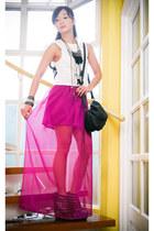 maxi Glitterati skirt - wedges Soule Phenomenon heels - fringe ruckus necklace