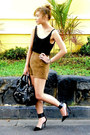 Black-balenciaga-bag-brown-topshop-shorts-black-zara-heels-black-zara-top