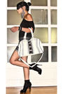 Black-mango-t-shirt-glitterati-shorts-black-online-boots-white-from-sis-pu