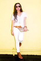 cream Fendi sunglasses - tawny christian dior belt - tawny Zara sandals