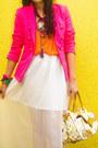 Hot-pink-tailored-zara-blazer-cream-murakami-louis-vuitton-bag
