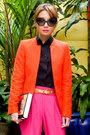 Carrot-orange-zara-blazer-orange-37la-bag-dark-brown-prada-sunglasses