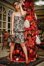 Black-mango-dress-ruby-red-mango-bag-black-mango-bag