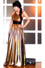 Gold-glitterati-dress-black-chanel-purse-gold-moms-bracelet-zoo-shop-shoes