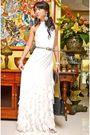 White-moonshine-dress-silver-vintage-belt-black-chanel-purse-white-from-my