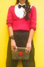 Black-louis-vuitton-bag-hot-pink-sweater-zara-sweater