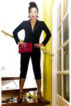 magenta Prima Donna heels - magenta patent Audrey for Parisian bag