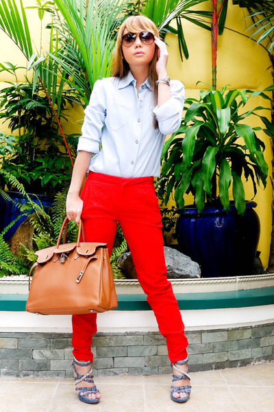 Zara pants - online shoes - birkin bag - Prada sunglasses - Zara top
