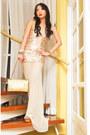 Off-white-glitterati-dress-gold-255-chanel-purse-camel-cmg-heels