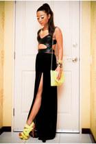black nike pro combat nike shorts - chartreuse sling neon Mango touch bag