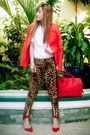 Red-mango-blazer-red-celine-bag-dark-brown-zara-pants-red-zara-heels