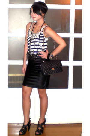 duerr skirt - Zara top - moms top - Zara belt - Chanel purse - Zara shoes