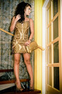 Gold-kristel-yulo-dress-gold-chanel-bag-gold-d-squared-heels