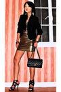 Gold-forever21-dress-black-zara-blazer-chanel-purse-black-online-shoes-g