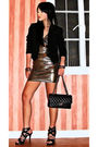 Gold-forever21-dress-black-zara-blazer-chanel-purse-black-online-shoes-g
