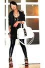 Black-trunk-show-blazer-black-topshop-top-black-random-leggings-silver-for