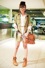Dark-khaki-zara-jacket-tawny-s-h-boots-white-zara-dress-tawny-topshop-bag