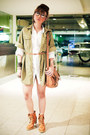 Tawny-s-h-boots-white-zara-dress-dark-khaki-zara-jacket-tawny-topshop-bag