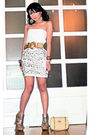 White-glitterati-dress-gold-vintage-from-mum-belt-gold-cmg-shoes-beige-guc