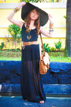 Vivid Clothing necklace - apartment 8 dress - Zara hat - Topshop bag