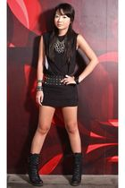 black Glitterati dress - black random from bazaar boots