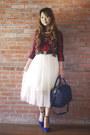 Blue-zara-shoes-navy-givenchy-bag-white-glitterati-skirt-red-zara-top