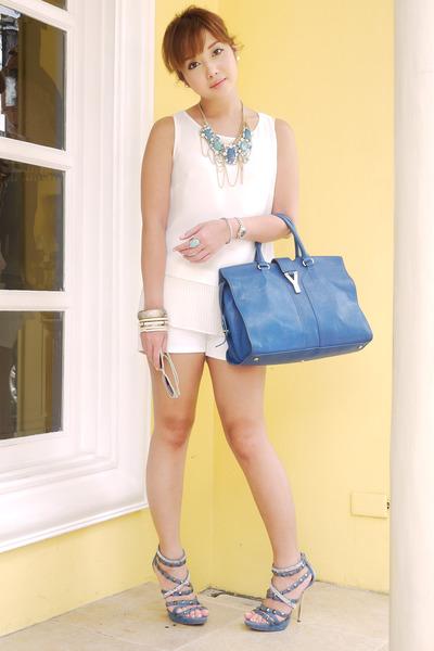 blue YSL bag