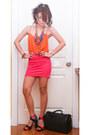 Black-louis-vuitton-bag-orange-zara-top-carrot-orange-zara-heels-hot-pink-