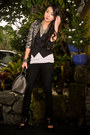 Black-skinny-mango-jeans-silver-glitterati-blazer-black-louis-vuitton-bag-