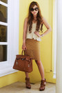 Camel-lace-forever-21-skirt-tan-peplum-undernourished-manila-top
