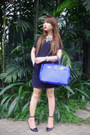 Black-bershka-dress-blue-hermes-bag-black-altuzarra-heels