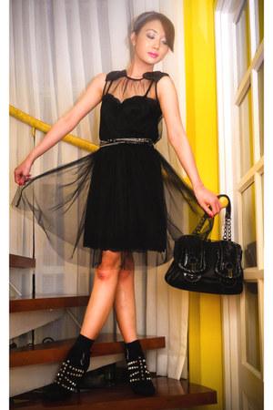 black Rodarte for Target dress - black Fendi bag - black plain Marks and Spencer