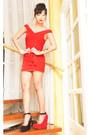 Ruby-red-glitterat-dress-ruby-red-aldo-wedges