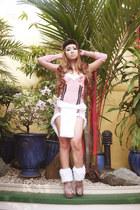 light pink 37LA boots - light pink ami clubwear dress