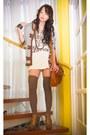 Cream-zara-shirt-burnt-orange-topshop-bag-brown-thigh-high-knit-topshop-sock