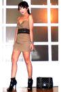 Brown-tyler-dress-black-glitterati-belt-black-online-shoes-black-chanel-pu