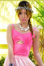 Eggshell-with-love-skirt-salmon-gold-couture-bag-salmon-pinkaholic-top