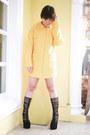 Yellow-chicnova-coat-black-glitterati-bra-yellow-glitterati-skirt